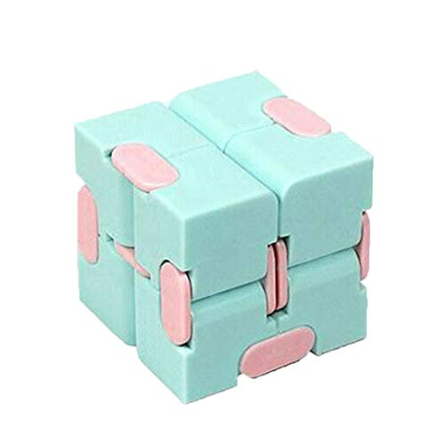 Fidget Magic Blocks Puzzle Cube Infinity Cube Puzzle Flip Cube Macaron Color Matching Small Cube The New Flip,Fidget Toys Educational Toys