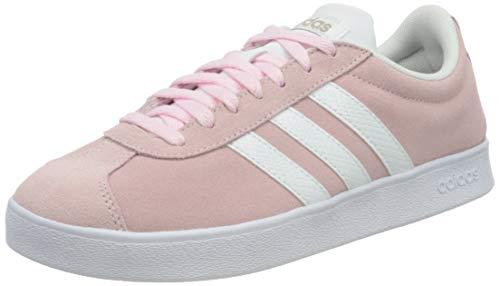 adidas VL Court 2.0, Zapatillas de Deporte Mujer, ROSCLA/FTWBLA/Gricin, 39 1/3 EU