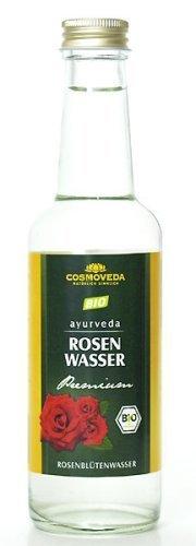 Cosmoveda Agua de pétalos de rosa orgánico, 3 x 250 ml (paquete de 3)