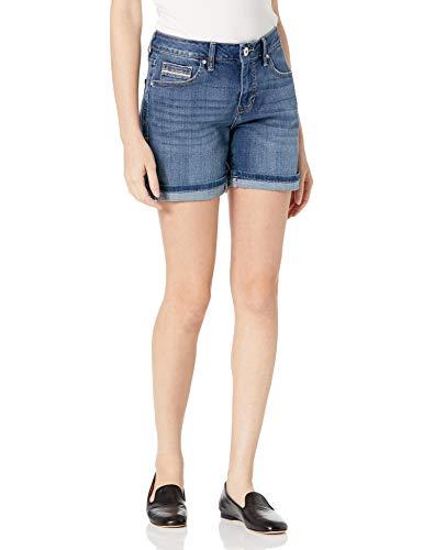 Jag Jeans Women's Petite Alex Boyfriend Short, Brilliant Blue, 8P
