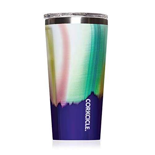 Corkcicle 16oz Tumbler - Classic Collection - Triple Insulated Stainless Steel Travel Mug, Aurora