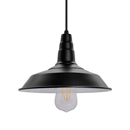 Lámpara de techo colgante industrial retro, lámparas de techo, luces de hierro negro, para estudio de sala de estar de restaurante, bombilla E27 Edison, iluminación blanca cálida de 5 vatios