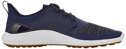 PUMA Men's Ignite Nxt Disc Golf shoes, Peacoat Puma Team Gold White, 6.5 UK