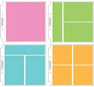 Doodlebug Designs Bulk Buy (2-Pack) Page Protector Assortment 8 inch x 8 inch 12 Pack 3 Each of All 4 Styles DB3501