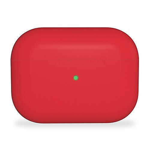 Rdyi6ba8 Funda compatible con AirPods Pro, ultra fina carcasa de silicona resistente a los golpes de silicona y piel para AirPods 3 Maletas de carga (rojo)