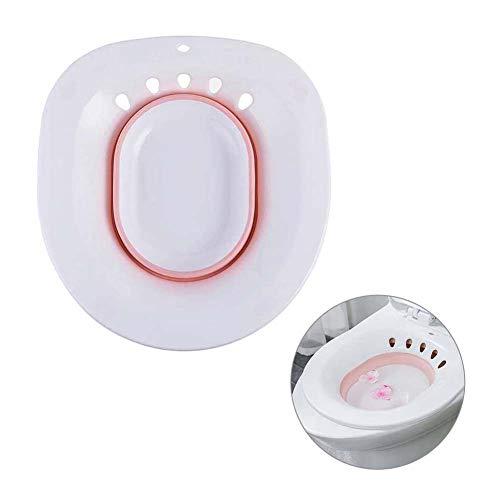 Chnzyr Sitzbad über die Toilette Faltbare Hip Perineal Einweichen Badewanne für Hemorrhoidal Relief Schwangere Frauen Erholung Personal privaten Teilereinigung Bidet,Rosa