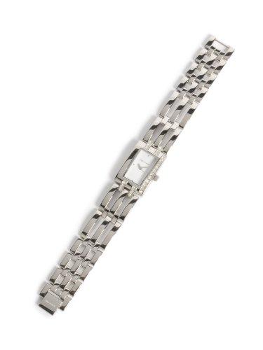 Reloj TIME FORCE de señora. Acero Cadena. Cromado y Blanco. TF-3220L02M