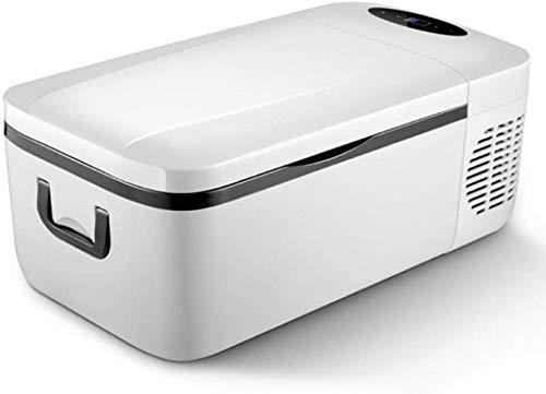 Mini-koelkast, 12 liter, voor auto en huis, 24 V/12 V/220-240 V, auto-koelkast, compressor, koelbox, beweegbare koelkast, vrieskast, camping, voor op reis, camping, picknick, houden van levensmiddelen zwart