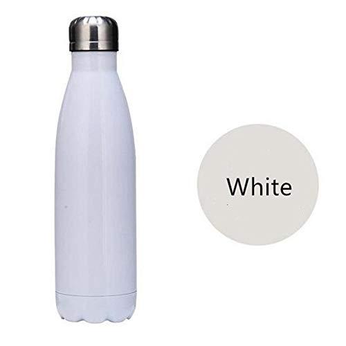 NYCROSSER Roestvrijstaal waterfles BPA gratis stofzuiger isolatie werk sportschool reizen sport 500ml