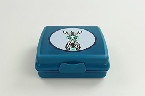 TUPPERWARE To Go Sandwich-Box türkis/blau Zebra Brotbox Schule Pausenbrot A126
