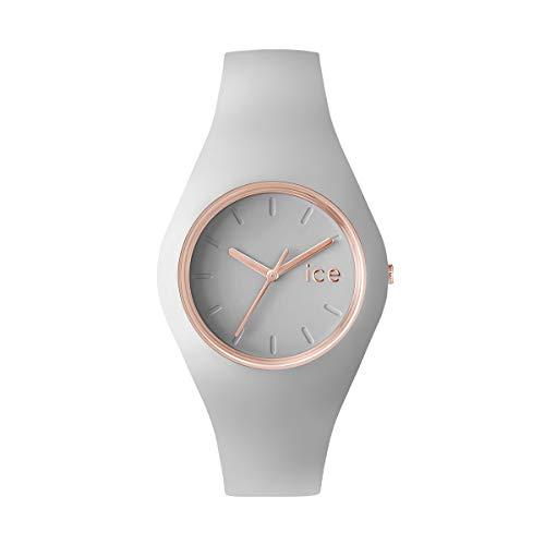 Ice-Watch - ICE glam pastel Wind - Graue Damenuhr mit Silikonarmband - 001066 (Small)