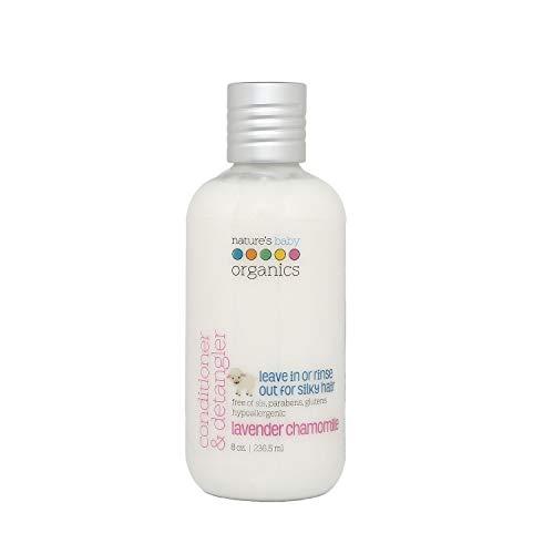 Nature's Baby Organics Natural Hair Conditioner and Detangler for Kids, Lavender Chamomile, White, 236.5ml