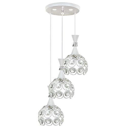 MMDD kroonluchter eenvoudige hanglamp moderne hanglamp kristal drie koppen lamp slaapkamer gang keuken licht