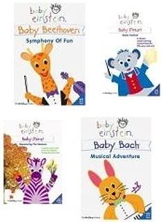 [4 DVD SET] Baby Einstein - Baby Monet - Discovering the Seasons / Baby Einstein - Baby Mozart - Music Festival / Baby Einstein - Baby Bach - Musical Adventure / Baby Einstein - Baby Beethoven - Symphony of Fun