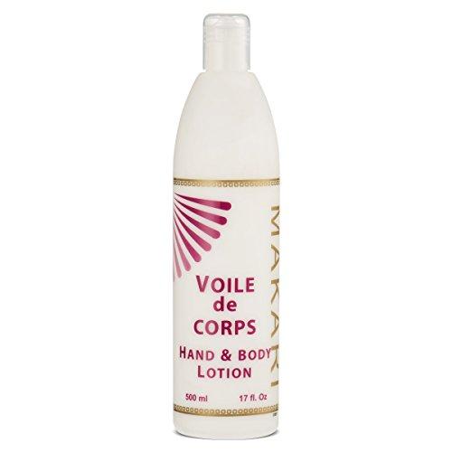 Makari voile de corps lotion mains et corps 17 fl.oz-Ultra hydratante pour les mains et le corps enrichie à l'Aloe Vera et Caroube