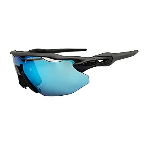 JIAYANLH Gafas de Ciclismo Polarizadas Gafas de Sol Deportivas con Montura TR90 Gafas de Bicicleta para Hombres Mujeres Anti-UV400 para Running MTB (B)