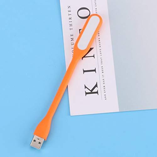 aixu Lámpara De Luz Llevada USB Flexible De La Mini Fan De La Fan Creativa del USB para La Naranja del Ordenador Portátil