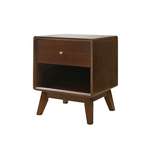 TXXM Nachttisch Schlafzimmer Spind, Schlafzimmer Nachttisch, Wohnzimmer Locker, Wohnzimmer Sofa Seitenschrank (Color : Walnut Color-a)