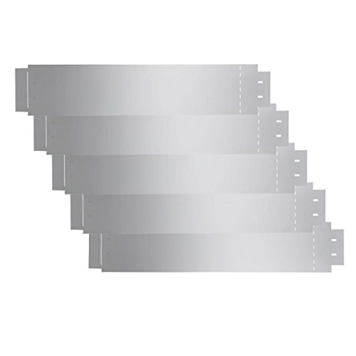 vidaXL 5X Rasenkante Verzinkter Stahl Beetumrandung Beeteinfassung Mähkante
