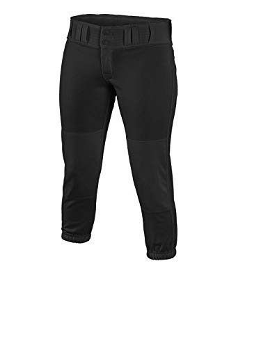 EASTON PRO Fastpitch Softball Pant | Womens | Medium | Black | 2020 | Sewn Down Set In Back Pockets | Pro Style Belt Loop System | 2 Color Internal Waistband