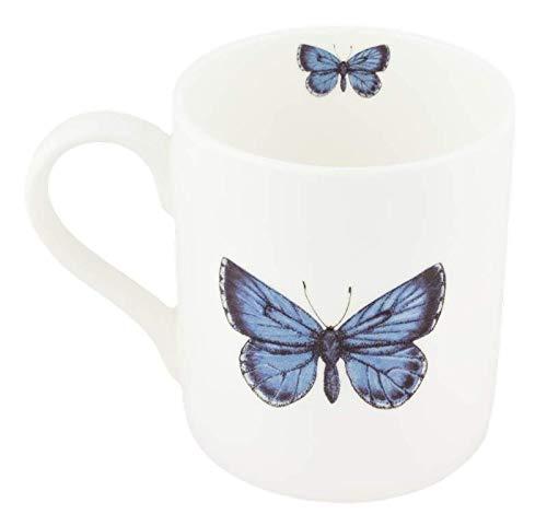Mug à thé en porcelaine fine Motif papillon Bleu