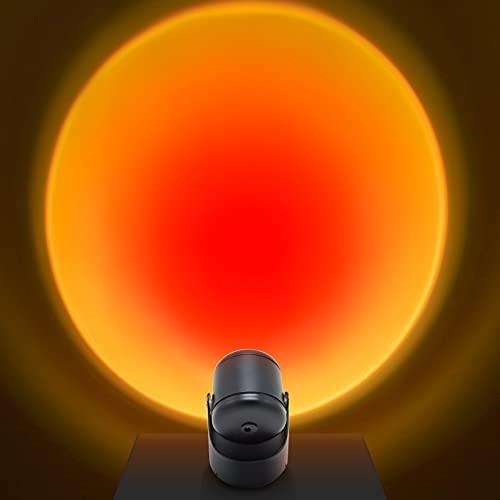 Sunset Lamp, Sunset Projection Lamp,180° Drehung Sonnenuntergang Projektionlampe,USB LED Projektor Lampe Licht, Drehung Romantische Visuelle Stimmungslampe Beleuchtung Schlafzimmer Deko