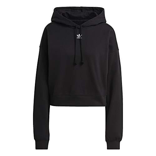adidas Adicolor Cropped - Sudadera con capucha para mujer Negro 32