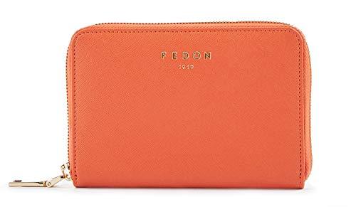 Fedon 1919 Emily Women S Wallet In Leather Ws1910075 Orange