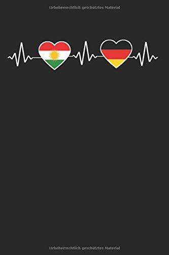 Kurdistan Deutschland Herzschlag: Kurdistan & Türkei Notizbuch 6'x9' Kurdische Geschenk für Kurdisch & Flagge