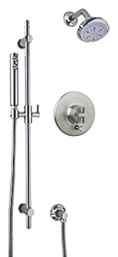 Lowest Prices! Rohl MODKIT36X-STN Ac414X-Ib Modern Architectural Pressure Balance Shower Package