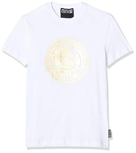 Versace Jeans Couture Herren Man T-Shirt Pullunder, Weiß (Bianco Ottico 003), X-Large