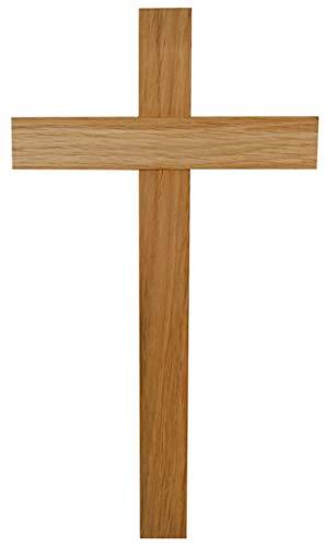 Kaltner Präsente Geschenkidee - Kreuz Wandkreuz Kruzifix aus Eiche Holz 35 cm für die Wand