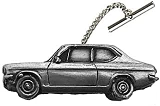 Datsun 1200 - Fermacravatta a 2 porte, modello berlina ref57, effetto peltro, con catena