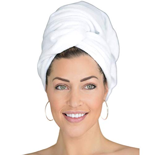 LARGE MICROFIBER HAIR TOWEL - Quick Anti-Frizz Hair Drying - Super Soft & Absorbent - Ideal for All Hair Types - (43 x 23 Inches)