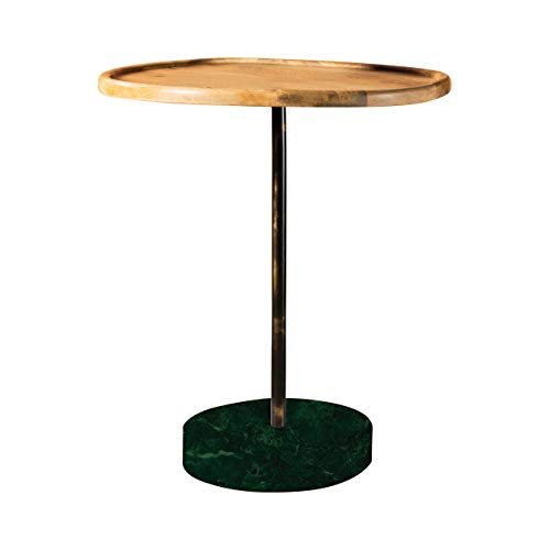 Coaster Home Furnishings Round Marble Base Natural and Green Accent Table