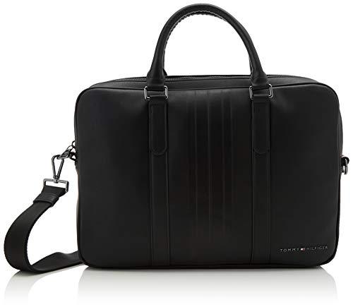 Tommy Hilfiger Herren Th Metro Slim Computer Bag Laptop Tasche Schwarz (Black)