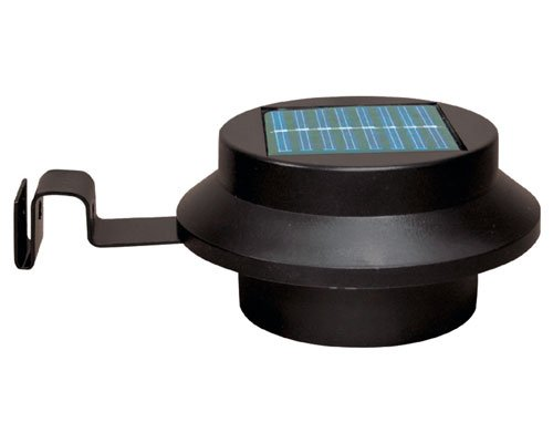 Tooltime Pack of 6 Black Superbright 3 LED Solar Powered Lights for Gutters or Garden Fences
