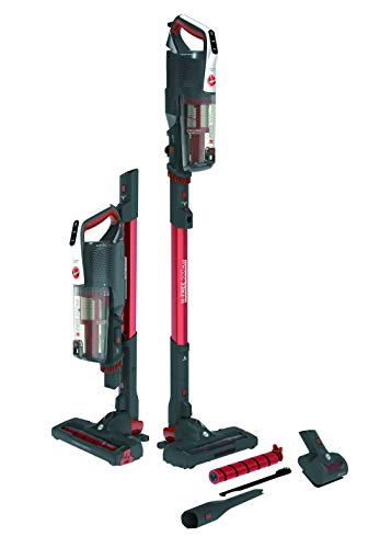 Hoover H-FREE 500 Plus All Floors & Pets, HF522SFP Akku-Staubsauger, 2in1, kompakt verstaubar & leicht, Für bis zu 45 Min., beutellos, freistehend, Schnellladen in 2,5 Std., Mini-Turbodüse + 4 Zubehör