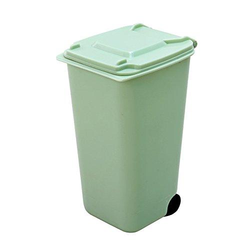 Haodou Diseño de papelera de reciclaje Mini cubo de basura pluma de almacenamiento Pencil Holder Pen Jar Pot Titular de la pluma (Verde)