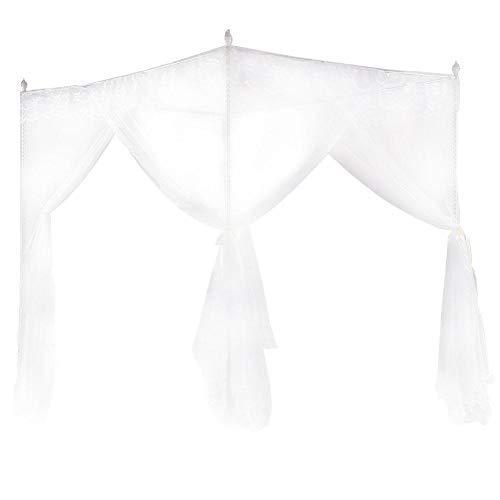 Fdit Mosquitera de lujo Princesa Tres aberturas laterales Post cama cortina Canopy Netting(150 x 200 x 200)