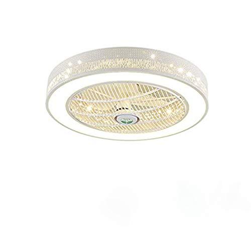 Ventilador de techo de 36 W LED lámpara de techo moderna regulable con mando a distancia silencioso Ventilador de techo para habitación de los niños salón dormitorio lámpara ventilador con iluminación