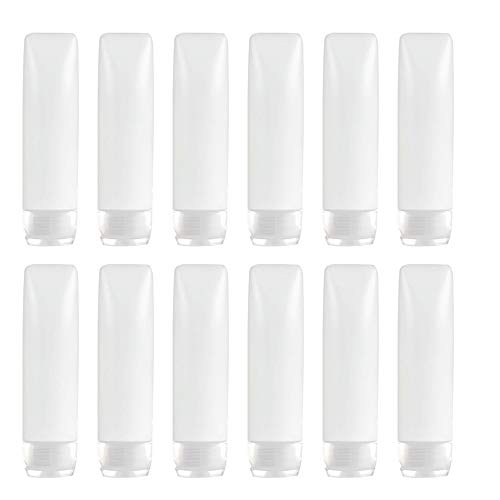 YXC PE アルコールジェル クリーム チューブ 詰め替え トラベル シャンプー プッシュボトル 12本セット (30ML)