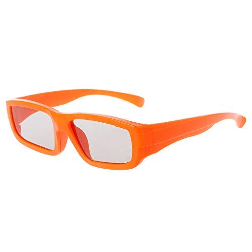 Sweo Polarisierte passive 3D-Brille für Kinder in Kindergröße, für echte D 3D TV Kino, Filme für VR AR