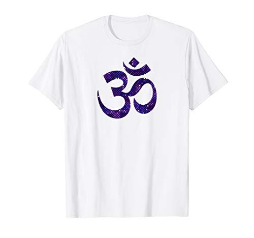 Om Zeichen für Goa und Psytrance in Pixel Style T-Shirt