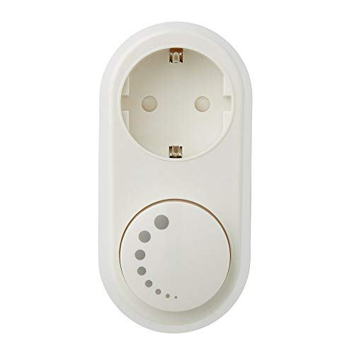 LED Dimmer-Steckdose 0-150W, Steckdosen Dimmer mit Drehregler, Phasenabschnitt, Drehdimmer für Dimmbare LED lampen, 100% leise - Ecodim
