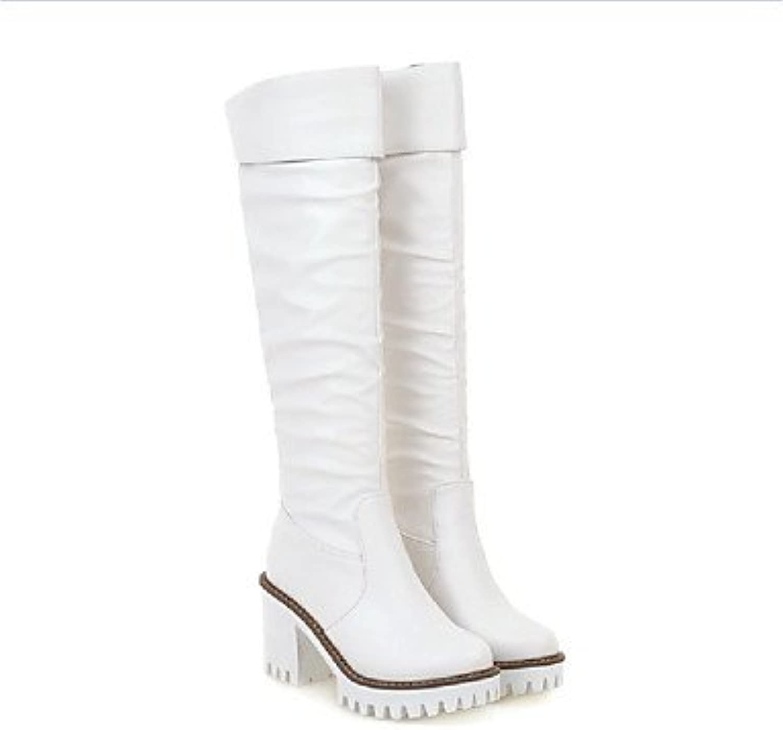 c9ee55dfef055 Women Fall Winter Snow PU Leatherette Outdoor Dress Casual Low Heel ...