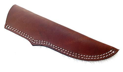 Ottoza Handmade Leather Knife Sheath SIDE DRAW Knife Sheath - Bushcraft Knife Sheath - Hunting Knife Sheath - Survival Knife Sheath - Vertical Knife Sheath Dark Brown TOP GRAIN LEATHER No:46