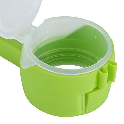 Clip de sellado, clip de bolsa de alimentos reutilizable no tóxico de 13x4,5 cm, boquillas de vertido, accesorio de cocina verde para restaurante en casa