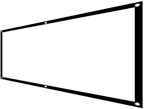 Buiten Binnen Projectorscherm Simple Gordijn 100 Inch 16: 9/4: 3 Projector scherm draagbare projector High Definition-scherm (Kleur: Wit, Maat: 100 Inch) dljyy (Color : White, Size : 100 Inch)