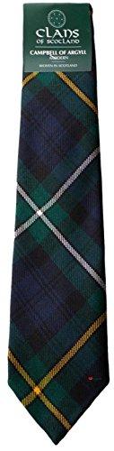 I Luv LTD Campbell of Argyll Clan 100% Wool Scottish Tartan Tie